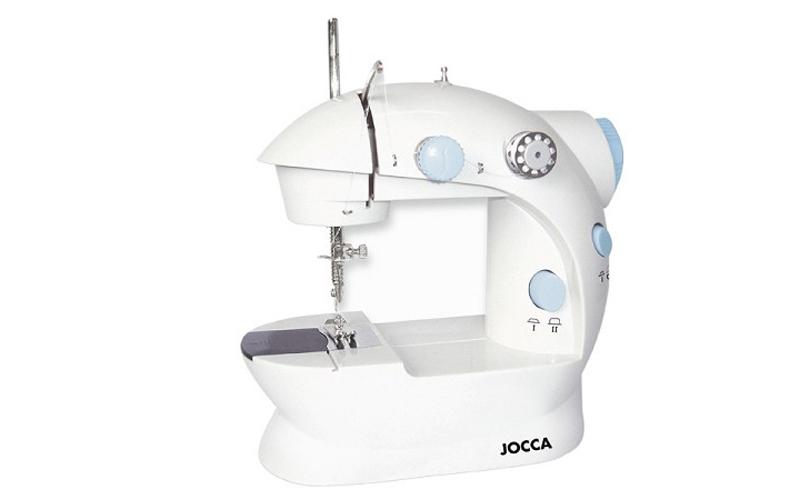 Jocca 6642 φορητή Ραπτομηχανή με Μπουτόν Ποδιού με Εγκοπή Στριφωμάτων που λειτου οικιακά είδη   ραπτομηχανές