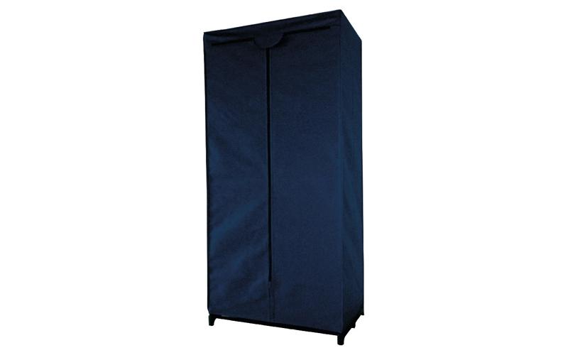 Ντουλάπα Υφασμάτινη Αναδιπλούμενη σε Μπλε χρώμα 65x45x157 cm - Schafer οργάνωση σπιτιού   ντουλάπες