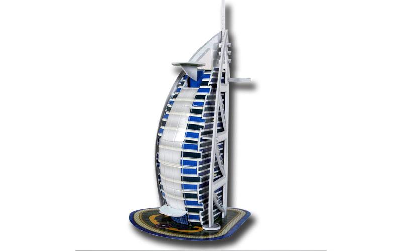 PUZZLE 3D Buraj Al Arab 17τεμ., (πάζλ) σε 3d σχεδιασμό, Eddy Toys 56652 - Eddy T παιχνίδια   παζλ και κατασκευές