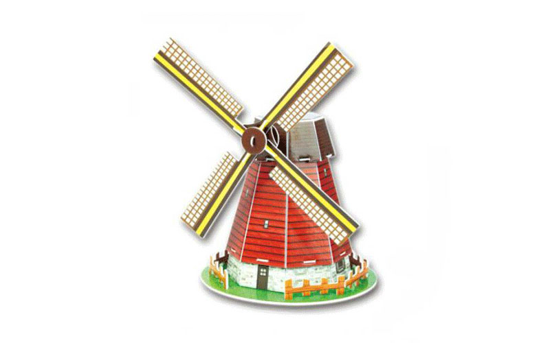 PUZZLE 3D Holland Windmill 20τεμ., (πάζλ) σε 3d σχεδιασμό, Eddy Toys 56652 - Edd παιχνίδια   παζλ και κατασκευές