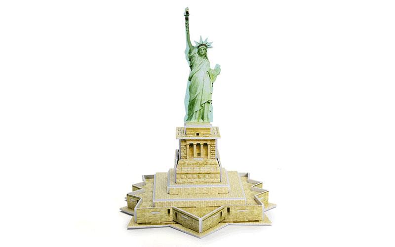 PUZZLE 3D Statue of Liberty 22τεμ., (πάζλ) σε 3d σχεδιασμό, Eddy Toys 56652 - Ed παιχνίδια   παζλ και κατασκευές
