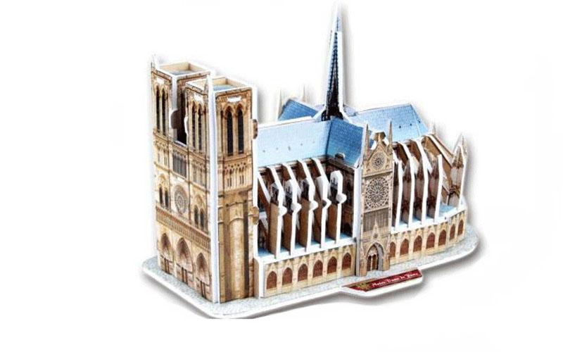 PUZZLE 3D Notre-Dane de Paris 39τεμ., (πάζλ) σε 3d σχεδιασμό, Eddy Toys 56652 -  παιχνίδια   παζλ και κατασκευές