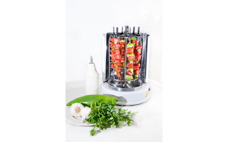 Ηλεκτρική ψησταριά με όρθιο ψήσιμο 6 θέσεων 1400W για σουβλάκια κεμπάπ λουκάνικα σκεύη μαγειρικής   γκριλλιερες   ψηστιέρες