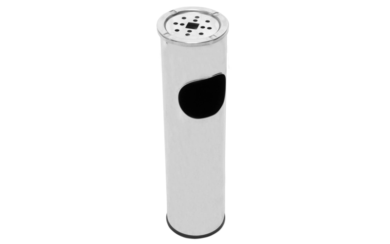Σταχτοδοχείο Δαπέδου 54cm σε Inox χρώμα με κάδο για χαρτιά, Fog Tower 613-731078 διακόσμηση και φωτισμός   αναπτήρες  ταμπακιέρες και σταχτοδοχεία
