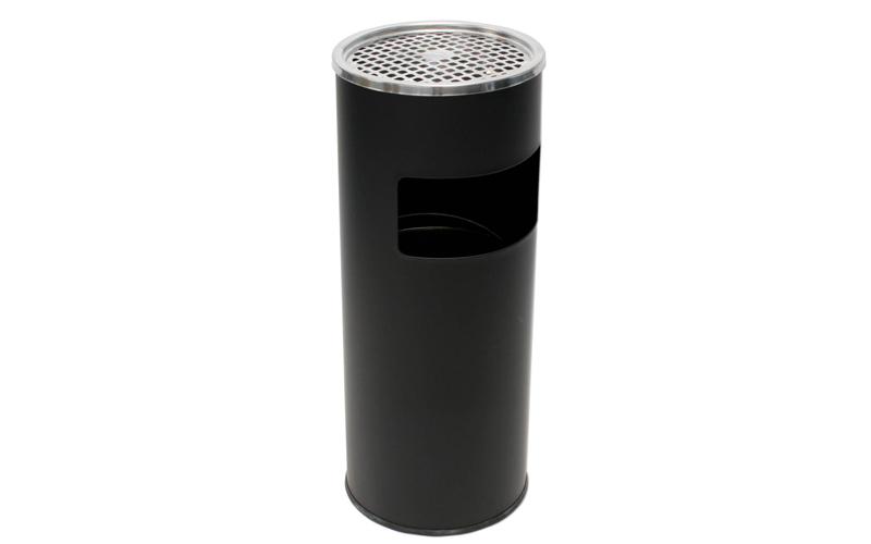 Σταχτοδοχείο Δαπέδου 60cm σε Μαύρο χρώμα με εσωτερικό κάδο απορριμάτων 12L, Fog  διακόσμηση και φωτισμός   αναπτήρες  ταμπακιέρες και σταχτοδοχεία