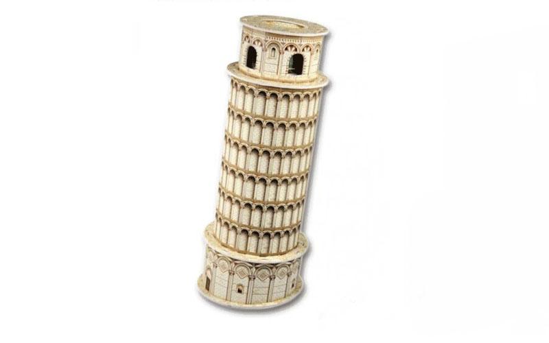 PUZZLE 3D Tower of Pisa 8τεμ., (πάζλ) σε 3d σχεδιασμό, Eddy Toys 56652 - Eddy To gadgets   παιχνίδια για όλους
