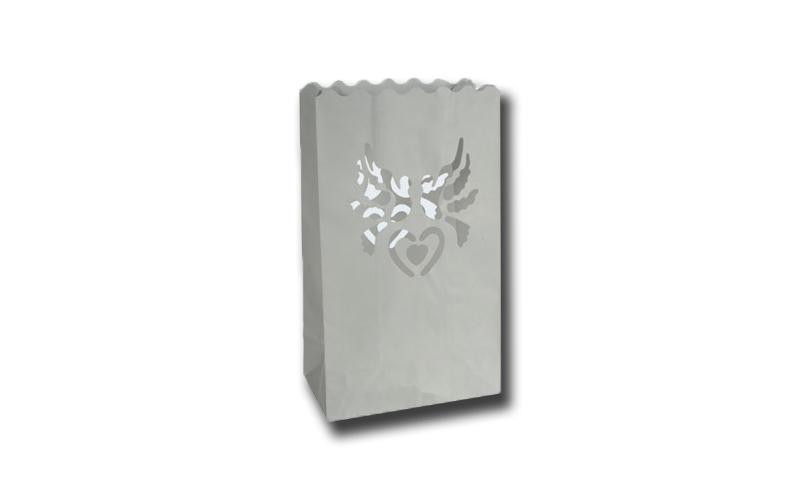 Χάρτινο πυρίμαχο Φαναράκι με θέμα καρδιά και πουλιά σετ 2 τεμ , Out of the blue 719137