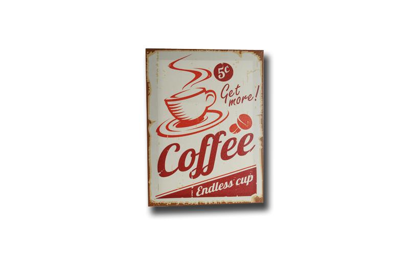 Πίνακας Καμβάς Vintage Παλαιού Αμερικάνικου Καφέ με θέμα Καφέ 30x40cm, Out of th διακόσμηση   κορνίζες   πίνακες   καθρέφτες