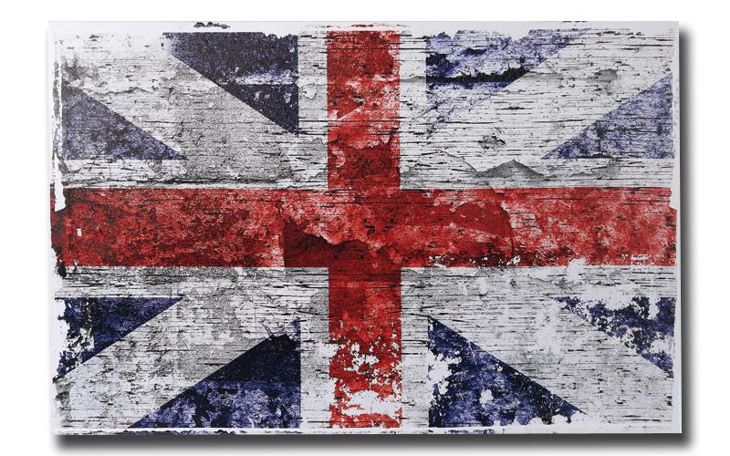 Πίνακας Καμβάς Vintage Look Union Jack 40x60cm, Out of the blue 810259 - Out Of  διακόσμηση και φωτισμός   πινακίδες  καμβάδες και αφίσες