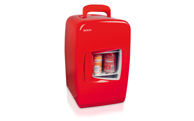 Mini Φορητό Ψυγείο 15L Κόκκινο με Επιλογή για Ζεστή ή Κρύο, SOGO SS-470 - SOGO μικροσυσκευές   ψυγεία συντηρητές κρασιών
