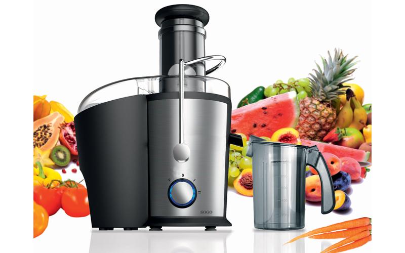 Sogo Ανοξείδωτος Αποχυμωτής 800W για Εξαγωγή Χυμών από Φρούτα και Λαχανικά, LIC- ηλεκτρικές οικιακές συσκευές   αποχυμωτές