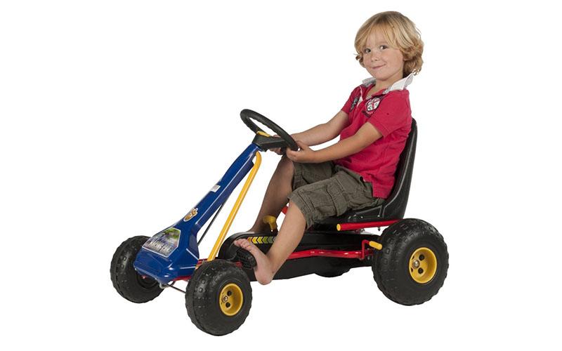 Ποδοκίνητο GO KART με πετάλια και φρένο και 2 ταχύτητες σε χρώμα Μπλέ/Κόκκινο, E παιχνίδια  παιδί  και  βρέφος   ποδηλατάκια   πατίνια