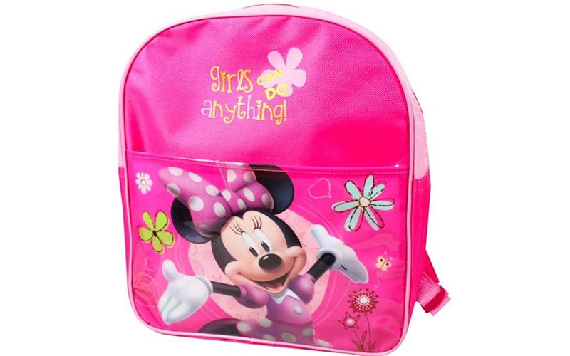 Disney Σχολική Τσάντα Νηπιαγωγείου Δημοτικού Σακίδιο Πλάτης με φερμουάρ Minnie M σχολικά είδη   σχολικές τσάντες
