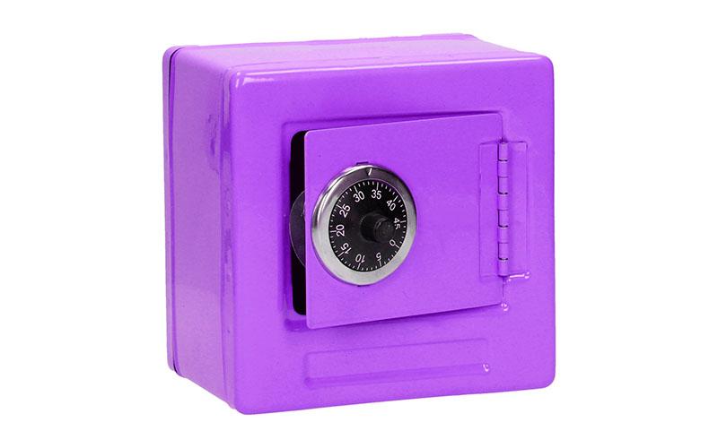 Mini Μεταλλικό κουτί με κωδικό ασφαλείας σε χρώμα Μώβ 98375 - MT αυτοματισμοί και ασφάλεια   χρηματοκιβώτια   θήκες ασφαλείας