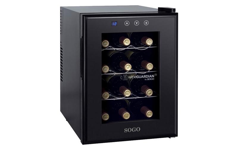 Sogo Ψυγείο Συντηρητής Κρασιών 33L 12 φιαλών με LED οθόνη θερμοκρασίας και εσωτε μικροσυσκευές   ψυγεία συντηρητές κρασιών