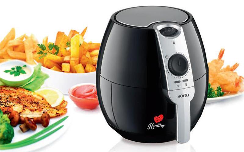 Φριτέζα αέρος 2.5L 1500W για μαγείρεμα χωρίς η με ελάχιστο λάδι, Sogo FRE-SS-10450 - SOGO