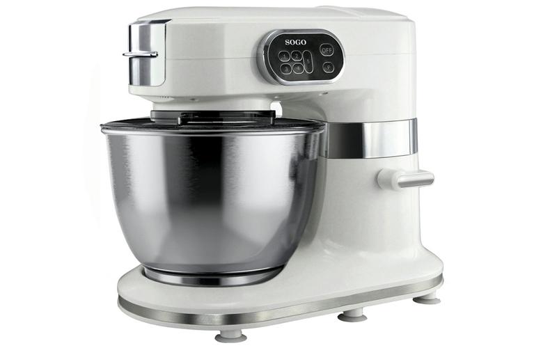 Κουζινομηχανή Μίξερ 1000W με ανοξείδωτο κάδο 5L και μοτέρ 5 ταχυτήτων, Sogo SS-14500 – SOGO