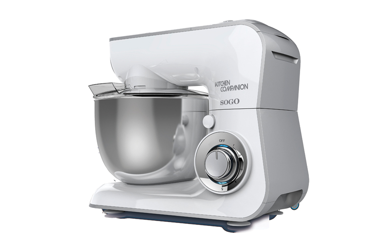 Sogo Επαγγελματική Κουζινομηχανή Μίξερ 600W με ανοξείδωτο κάδο 3.6L και μοτέρ 5 ταχυτήτων, SS-14525 - SOGO