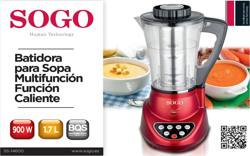 Sogo Professional Kitchen Blender 900W, soup maker with 1 7L pot,  BAT-SS-14600