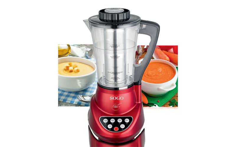 Πολυεργαλείο κουζίνας 900W μπλέντερ και παρασκευαστής σούπας με δοχείο 1.7L, Sogo SS-14600 – SOGO