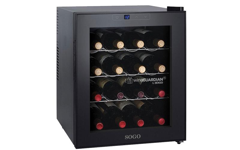 Ψυγείο Συντηρητής Κρασιών 46L 16 φιαλών με LED οθόνη θερμοκρασίας και εσωτερικό  μικροσυσκευές   ψυγεία συντηρητές κρασιών