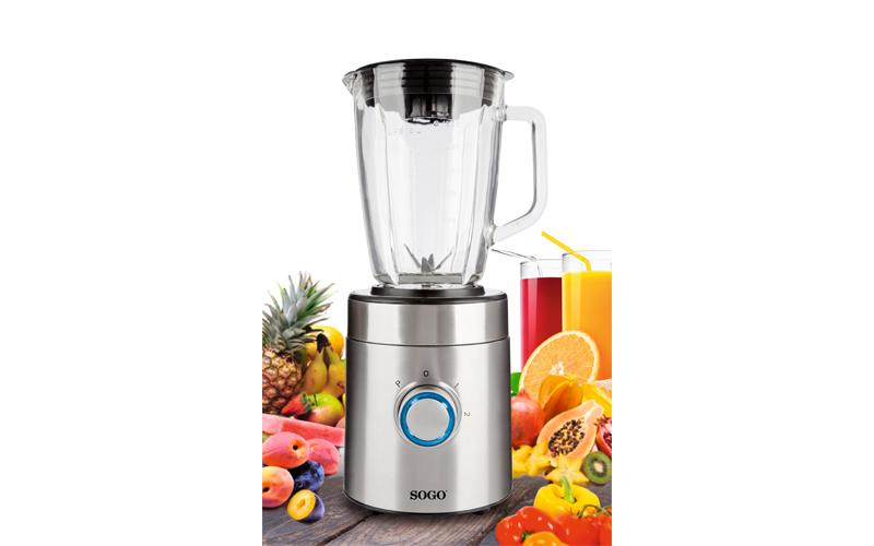 Sogo Επαγγελματικό Μπλέντερ Πολυμηχάνημα Κουζίνας (Blender) 600W με Γυάλινο δοχε μικροσυσκευές   μίξερ   μπλέντερ