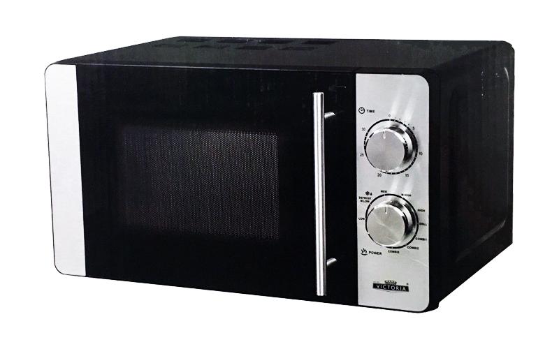 Φούρνος μικροκυμάτων Victtoria 20 Λίτρα 700 Watt σε Μαύρο/Ασημί χρώμα - Victoria για την κουζίνα   φουρνάκια