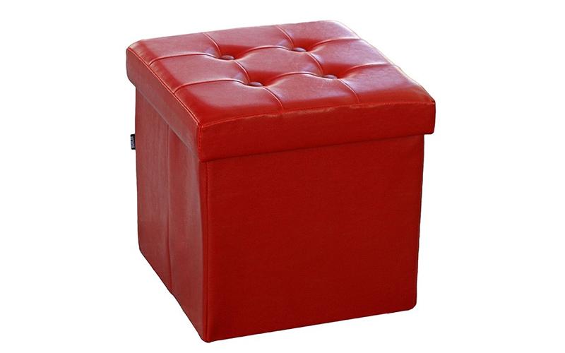 Muhler Σκαμπό Πτυσσόμενο με Αποθηκευτικό Χώρο σε χρώμα Κόκκινο 35x35x35cm απο Fa οργάνωση σπιτιού   κουτιά αποθήκευσης