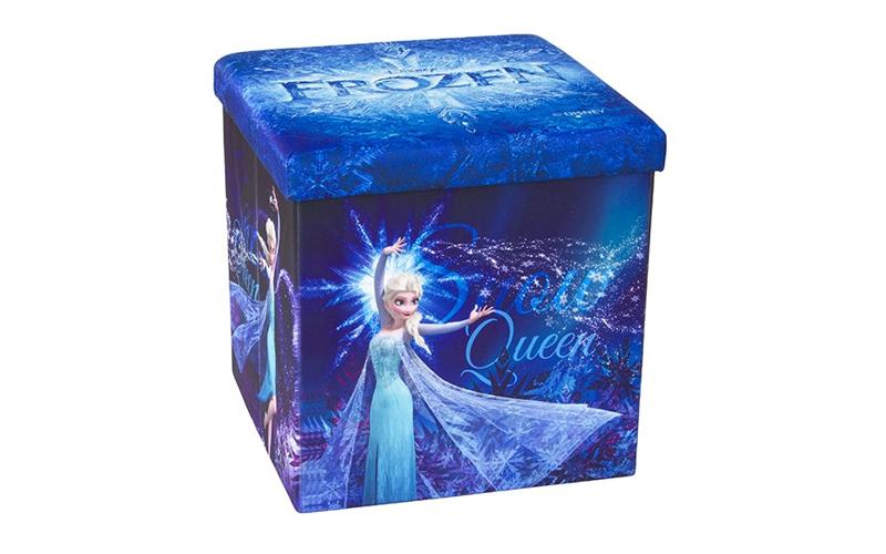 Παιδικό Σκαμπό Πτυσσόμενο με Αποθηκευτικό Χώρο με θέμα Snow Queen απο την ταινία έπιπλα   πουφ και σκαμπό