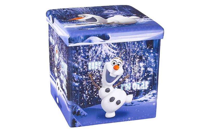 Παιδικό Σκαμπό Πτυσσόμενο με Αποθηκευτικό Χώρο με θέμα τον OLAF απο την ταινία F έπιπλα   πουφ και σκαμπό