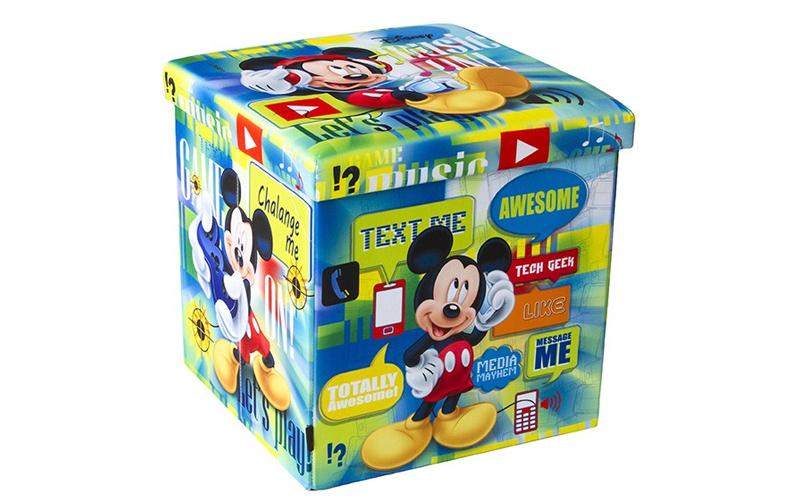 Παιδικό Σκαμπό Πτυσσόμενο με Αποθηκευτικό Χώρο με θέμα Mickey Mouse της DISNEY 3 οργάνωση σπιτιού   κουτιά αποθήκευσης
