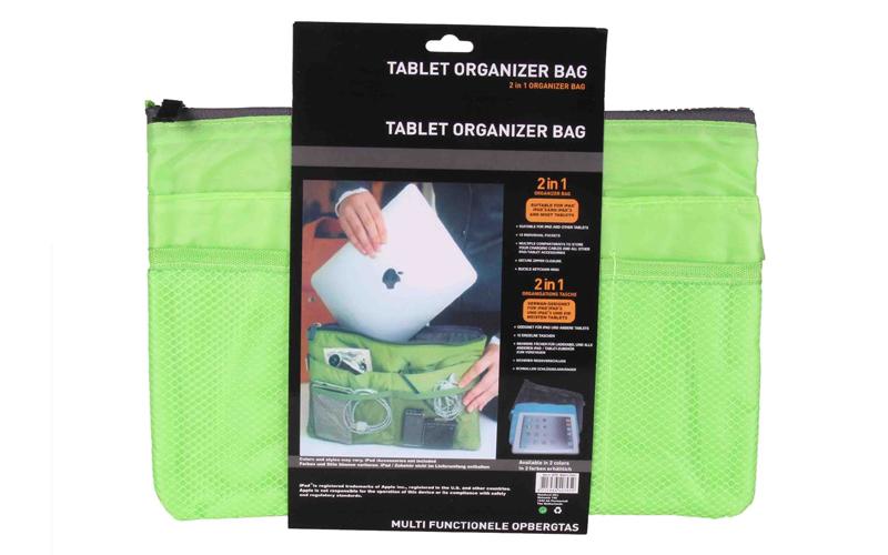 Οργανωτής Τσάντας με Πολλές Θήκες & Φερμουάρ σε πράσινο Χρώμα για Android Tablet τηλεφωνία και tablets   θήκες για tablets