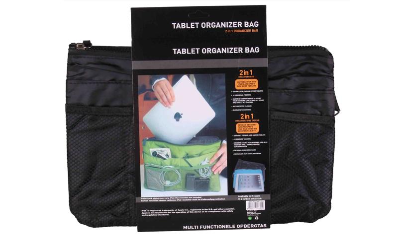 Οργανωτής Τσάντας με Πολλές Θήκες & Φερμουάρ σε Μαύρο Χρώμα για Android Tablet I τηλεφωνία και tablets   θήκες για tablets