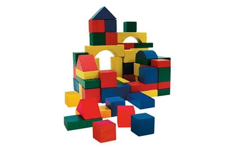 Wooden Toys Σετ απο 50 τεμ Ξύλινα Τουβλάκια σε κουβά μεταφοράς για ατέλειωτες ώρ παιχνίδια  παιδί  και  βρέφος   έξυπνα   εκπαιδευτικά παιχνίδια