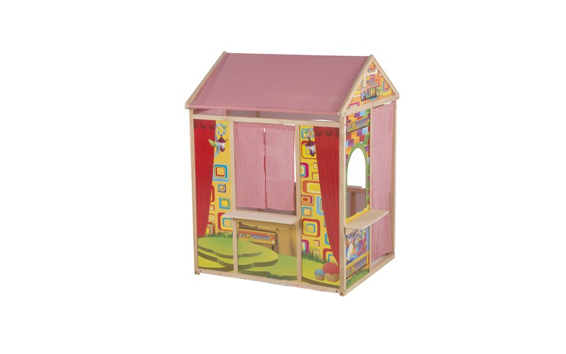 Ξύλινο Παιδικό Σπιτάκι Κουκλοθέατρο 119x84x90cm, Marionette Wooden Toys Cb 56388