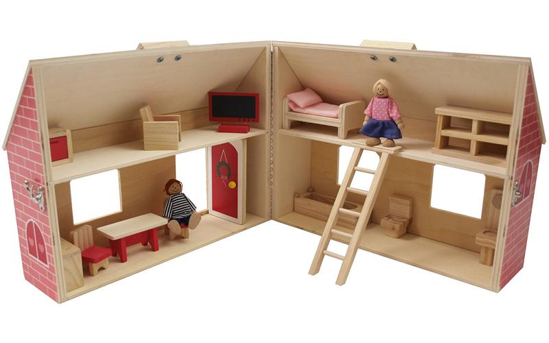 Ξύλινο Παιχνίδι Δραστηριοτήτων Κουκλόσπιτο 35x26x18cm αποτελούμενο απο 19 τεμ, M παιχνίδια  παιδί  και  βρέφος   έξυπνα   εκπαιδευτικά παιχνίδια