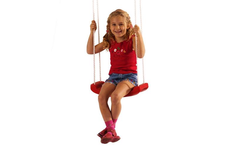Κούνια Κήπου Κρεμαστή χωρίς Πλάτη σε Κόκκινο Χρώμα 42x16 cm, Happy People 732204 παιχνίδια  παιδί  και  βρέφος   έξυπνα   εκπαιδευτικά παιχνίδια