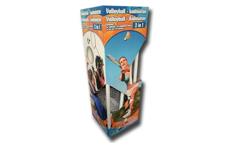 Πλήρες Σετ Volleyball Badminton 9 τεμ που περιλαμβάνει 4 Ρακέτες, Ορθοστάτες, Φι sports   γυμναστική  και  fitness