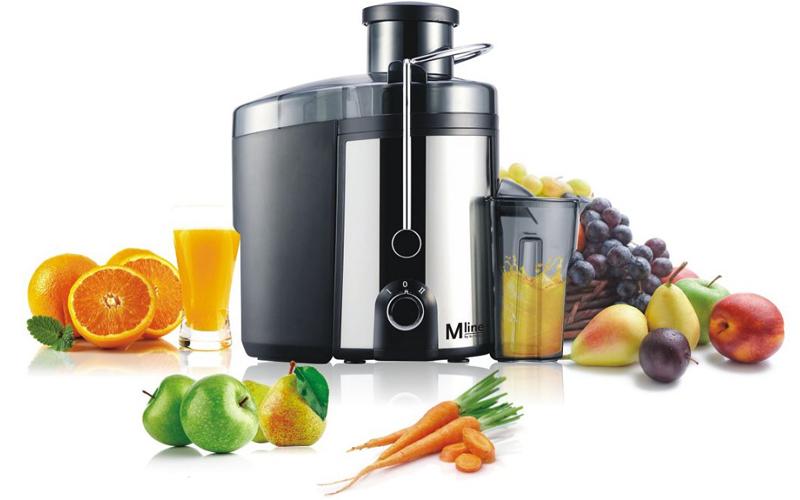 Ανοξείδωτος Αποχυμωτής 400W για εξαγωγή χυμών απο φρούτα λαχανικά κτλ Slow Juicer, Enrico M-Line Juicer 812.102 - ENRICO