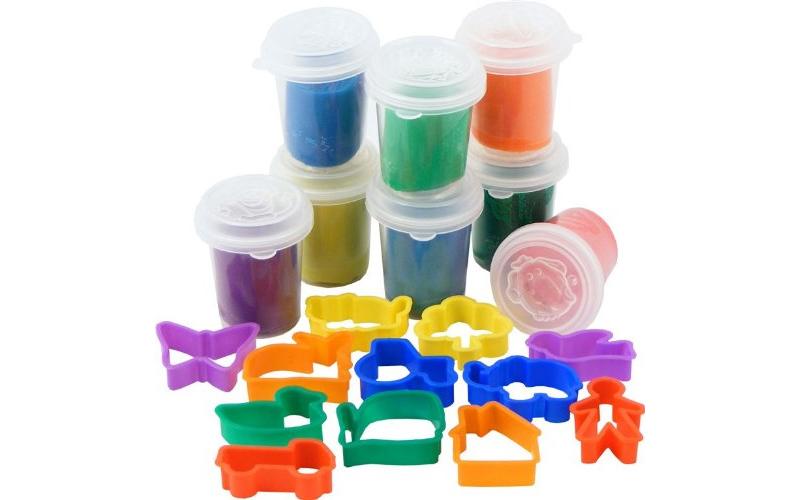 Σετ Πλαστελίνης 20 τεμ αποτελούμενο απο 8 βαζάκια πλαστελίνης σε διαφορετικά χρώ παιχνίδια  παιδί  και  βρέφος   έξυπνα   εκπαιδευτικά παιχνίδια