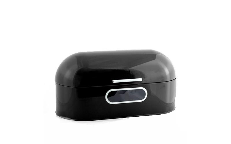 Panera Ρετρό μεταλλική ψωμιέρα σε Μαύρο χρώμα - Excellent Houseware
