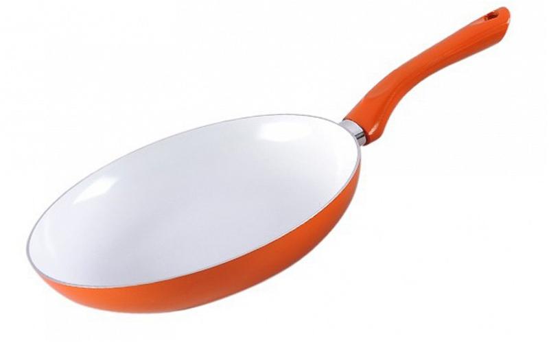 Τηγάνι με κεραμική επίστρωση 24cm σε χρώμα πορτοκαλί, Muhler MR-724C - Muhler μαγειρικά σκεύη   τηγάνια