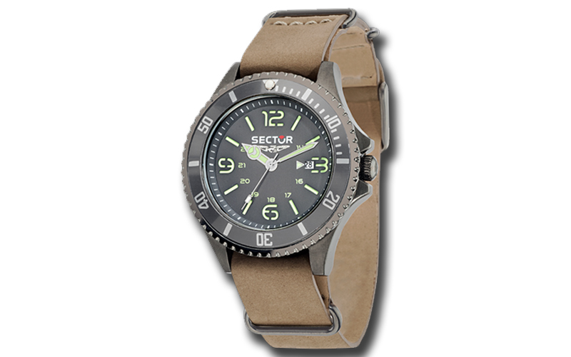 Sector R3251161010, Ανδρικό Ρολόι Contemporary 235 Brown Leather Strap - Sector ρολόγια χειρός   ανδρικά ρολόγια χειρός