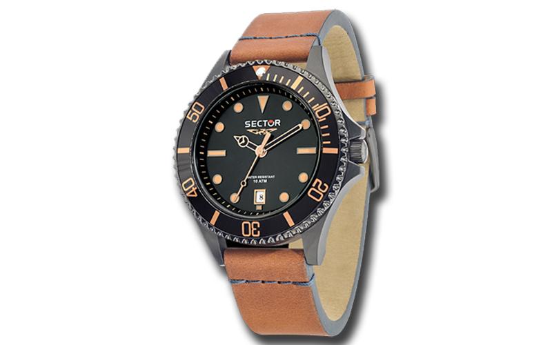 Sector R3251161014 Ανδρικό Ρολόι 235 Brown Leather Strap - Sector ρολόγια χειρός   ανδρικά ρολόγια χειρός