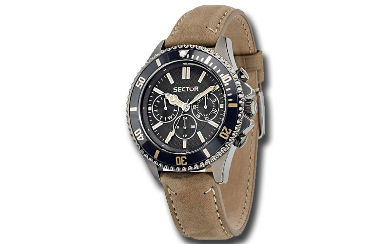 Sector R3251161015 Ανδρικό Ρολόι 235 Multi function Brown Leather Strap - Sector ρολόγια χειρός   ανδρικά ρολόγια χειρός