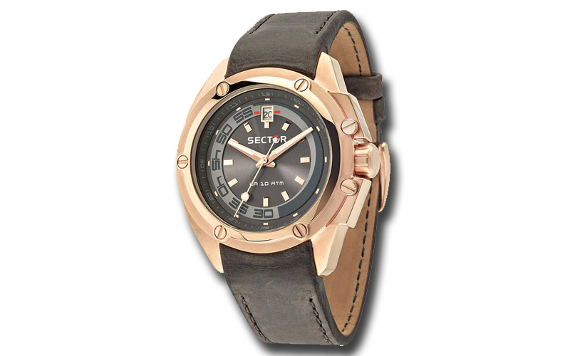 Sector R3251581002 Ανδρικό Ρολόι Rose Gold Brown Leather Strap - Sector ρολόγια χειρός   ανδρικά ρολόγια χειρός