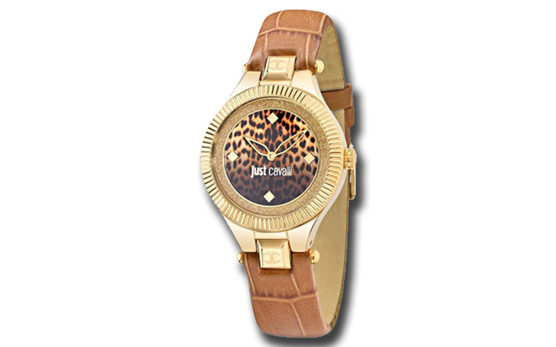 Just Cavalli R7251215502 Γυναικείο Ρολόι Just Indie Gold Brown Leather  Strap  aa9d55a446a