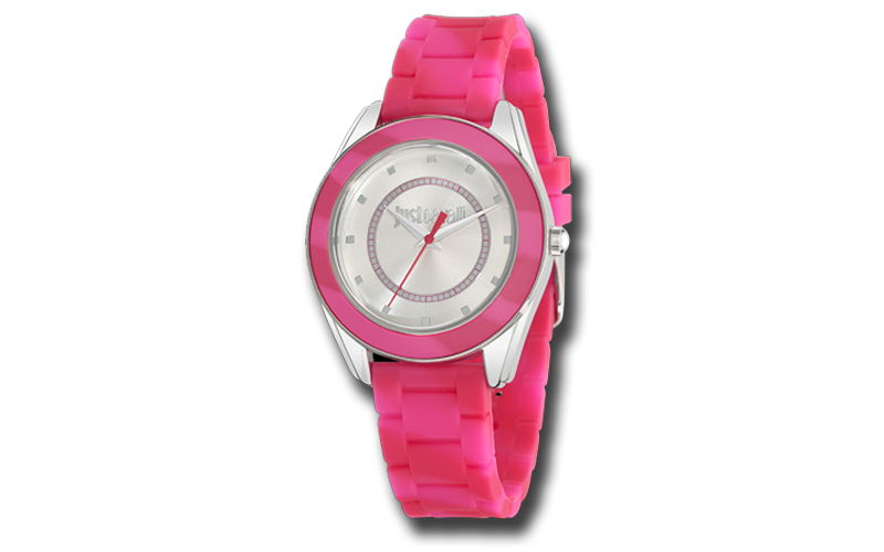 Just Cavalli Γυναικείο Ρολόι Crystals Pink Rubber Strap της σειράς Just Dream