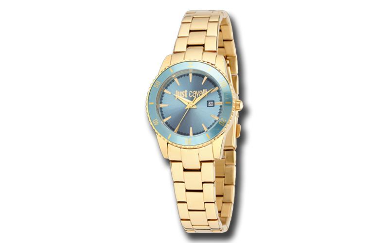 Just Cavalli R7253202501 Γυναικείο Ρολόι Just in Time Gold Stainless Steel Brace γυναίκα   ρολόγια