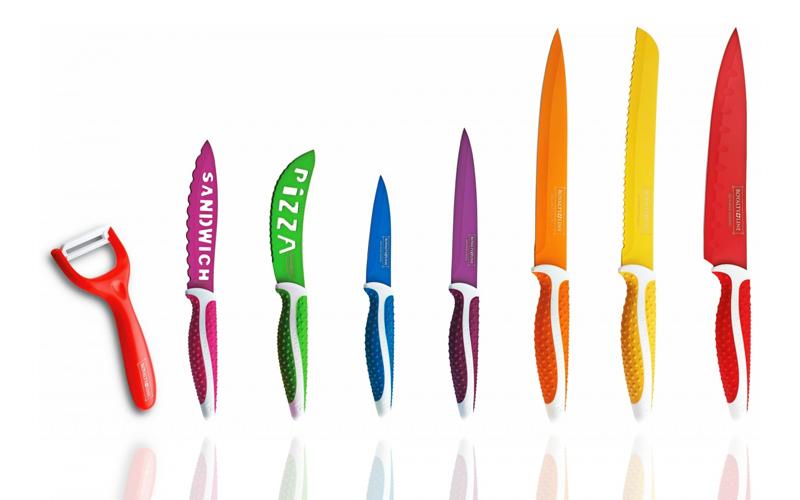 Royalty Line RL-COL7N Σετ Μαχαίρια 7 τμχ από ανοξείδωτο ατσάλι με αντικολλητική  αξεσουάρ και εργαλεία κουζίνας   μαχαίρια κουζίνας